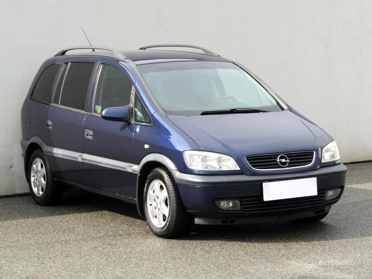 Opel Zafira, 2001 - celkový pohled